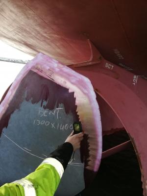 Bulker propeller repair avoids costly drydocking