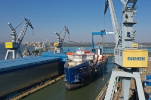 Damen launches aggregate dredger for Hanson