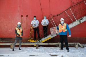 Federal Kushiro first vessel of 2021 at Trois-Rivières