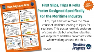 First maritime slips, trips and falls poster