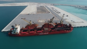 First shipment at Khalifa Port's South Quay