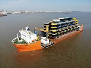 Hulls shipped from Shanghai to Rotterdam