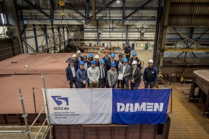 Keel-laying ceremony for WSA Koblenz