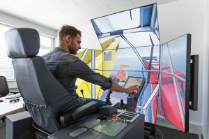 Liebherr simulator for New Zealand