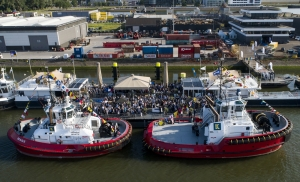 Naming ceremony for Damen tugs in Rotterdam