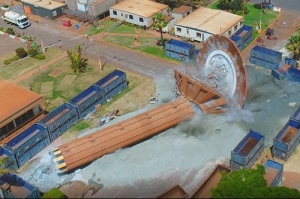 Port Hedland old tower felled
