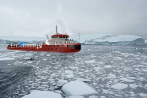 Protection for ice-going vessels