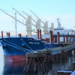 Iwagi Island calls at Vancouver USA on maiden voyage