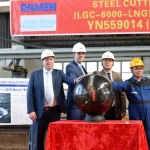 Steel cut at Damen Yichang Shipyard