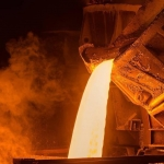World steel production up