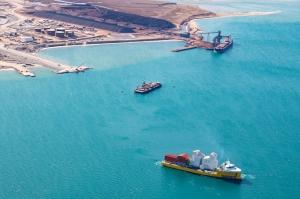 thyssenkrupp ships ore handling system